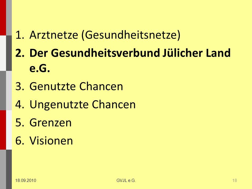 Arztnetze (Gesundheitsnetze) Der Gesundheitsverbund Jülicher Land e.G.