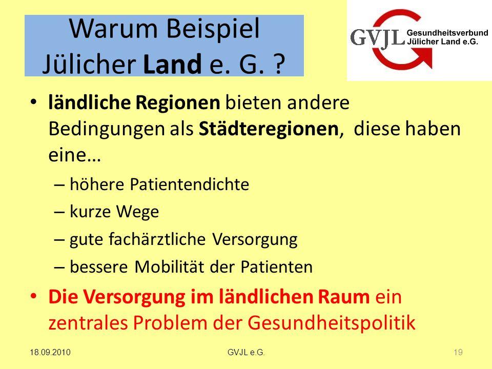 Warum Beispiel Jülicher Land e. G.