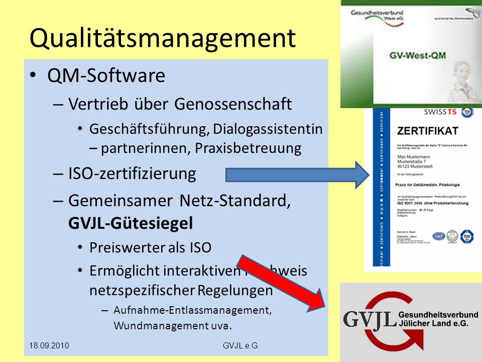 Qualitätsmanagement QM-Software Vertrieb über Genossenschaft