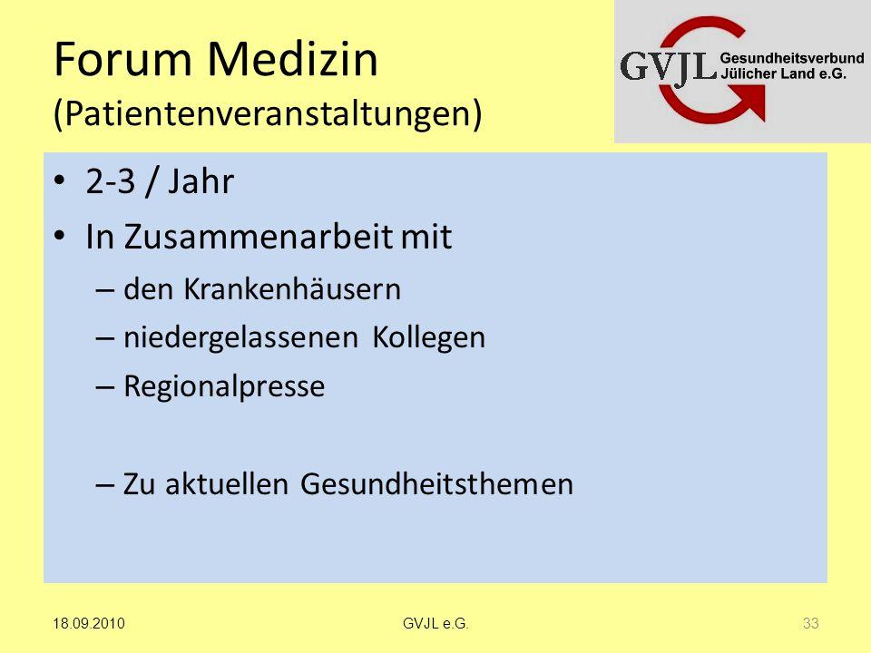Forum Medizin (Patientenveranstaltungen)