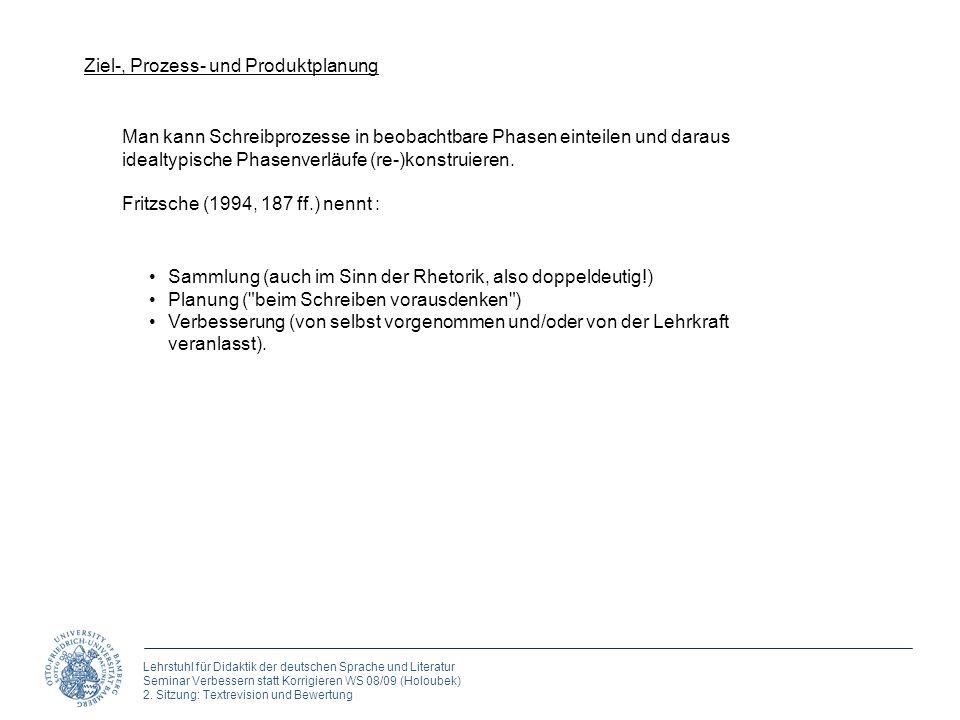 Ziel-, Prozess- und Produktplanung