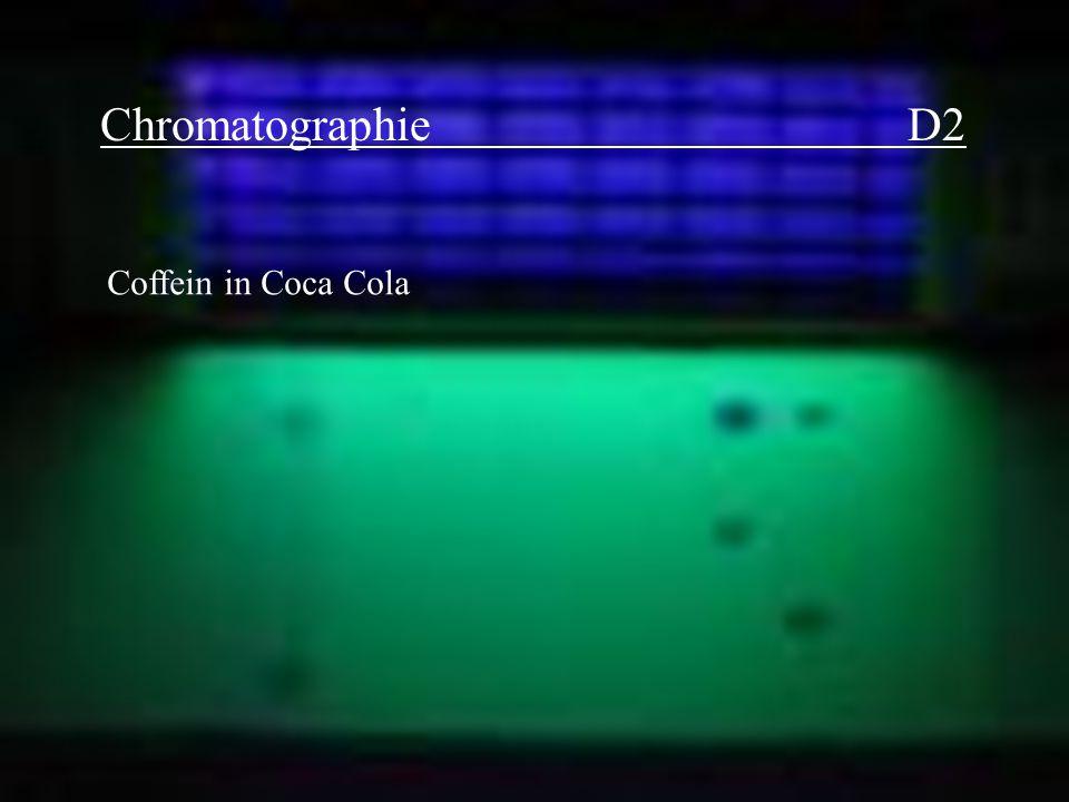 Chromatographie D2 Coffein in Coca Cola