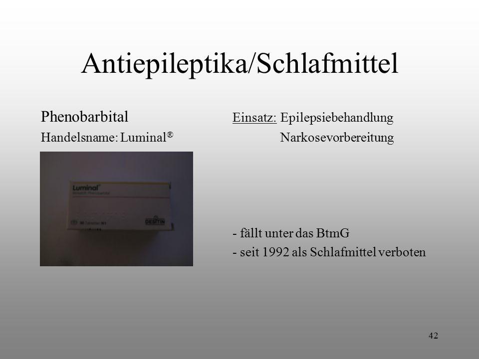 Antiepileptika/Schlafmittel