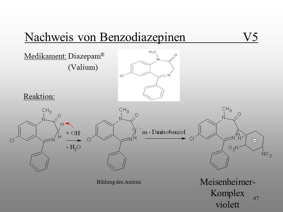 Nachweis von Benzodiazepinen V5