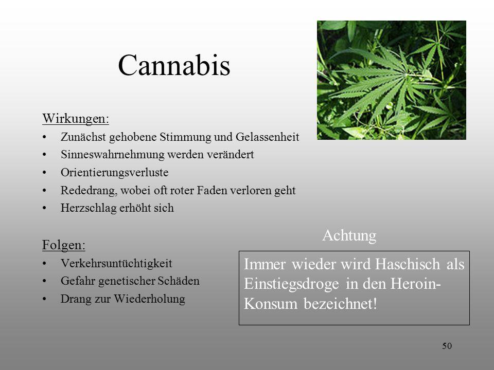 Cannabis Achtung Immer wieder wird Haschisch als