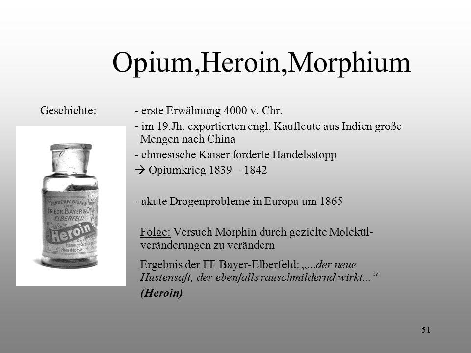 Opium,Heroin,Morphium Geschichte: - erste Erwähnung 4000 v. Chr.
