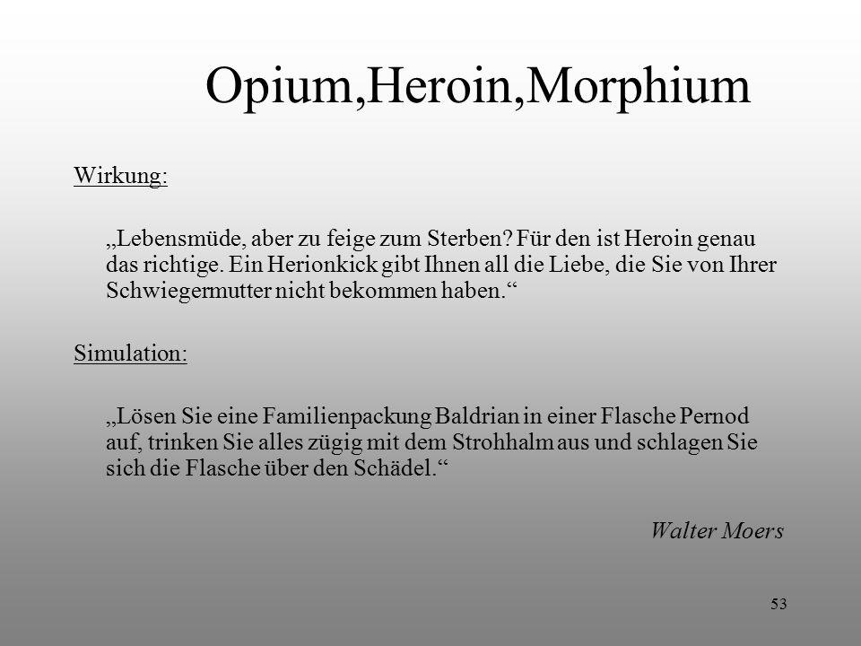 Opium,Heroin,Morphium Wirkung: