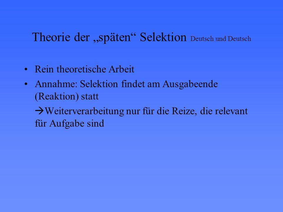 """Theorie der """"späten Selektion Deutsch und Deutsch"""