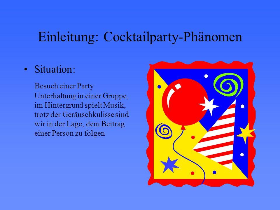 Einleitung: Cocktailparty-Phänomen