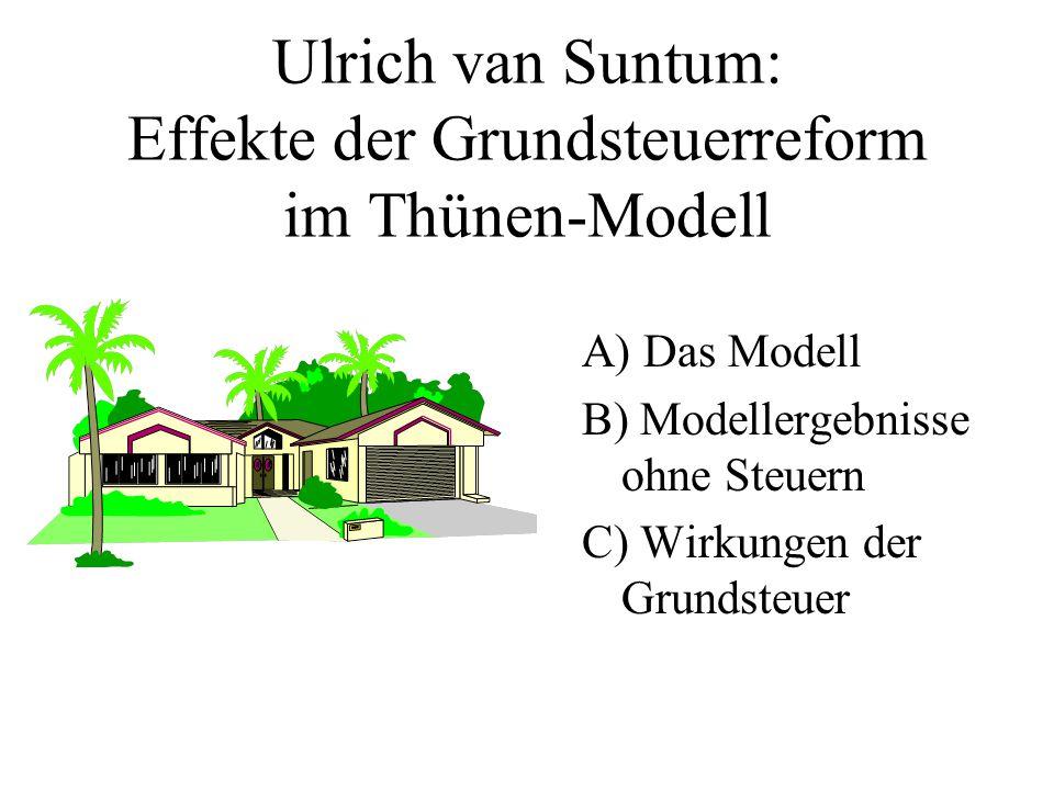 Ulrich van Suntum: Effekte der Grundsteuerreform im Thünen-Modell