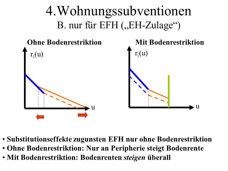"""4.Wohnungssubventionen B. nur für EFH (""""EH-Zulage )"""