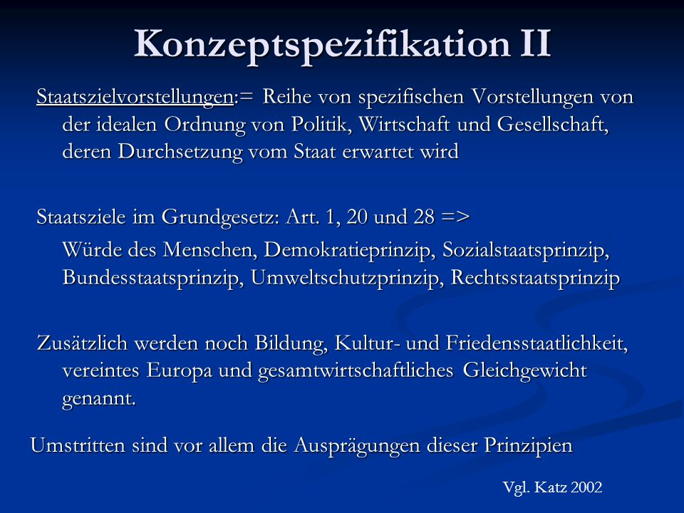 Konzeptspezifikation II