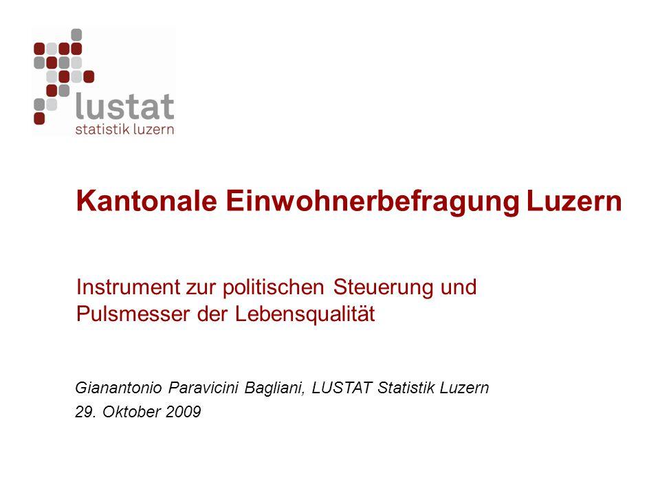 Kantonale Einwohnerbefragung Luzern