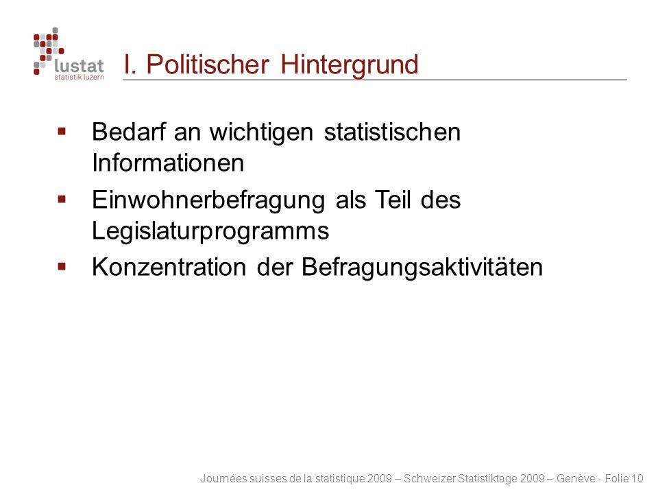 I. Politischer Hintergrund