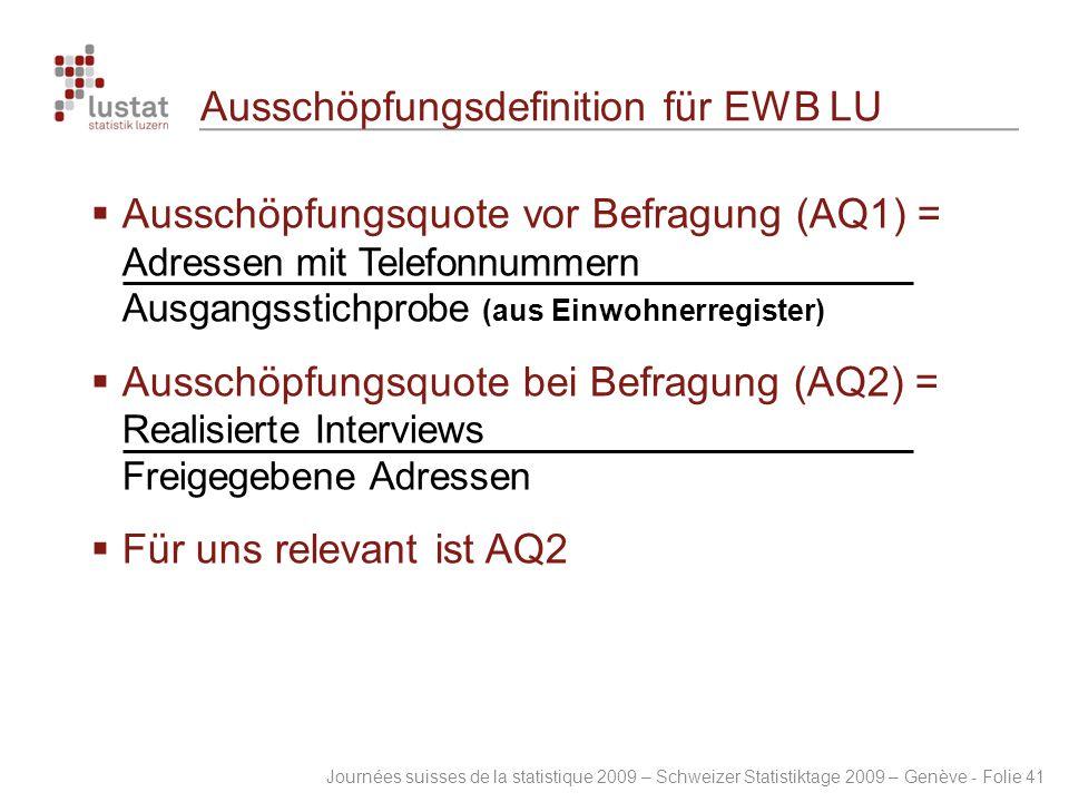 Ausschöpfungsdefinition für EWB LU