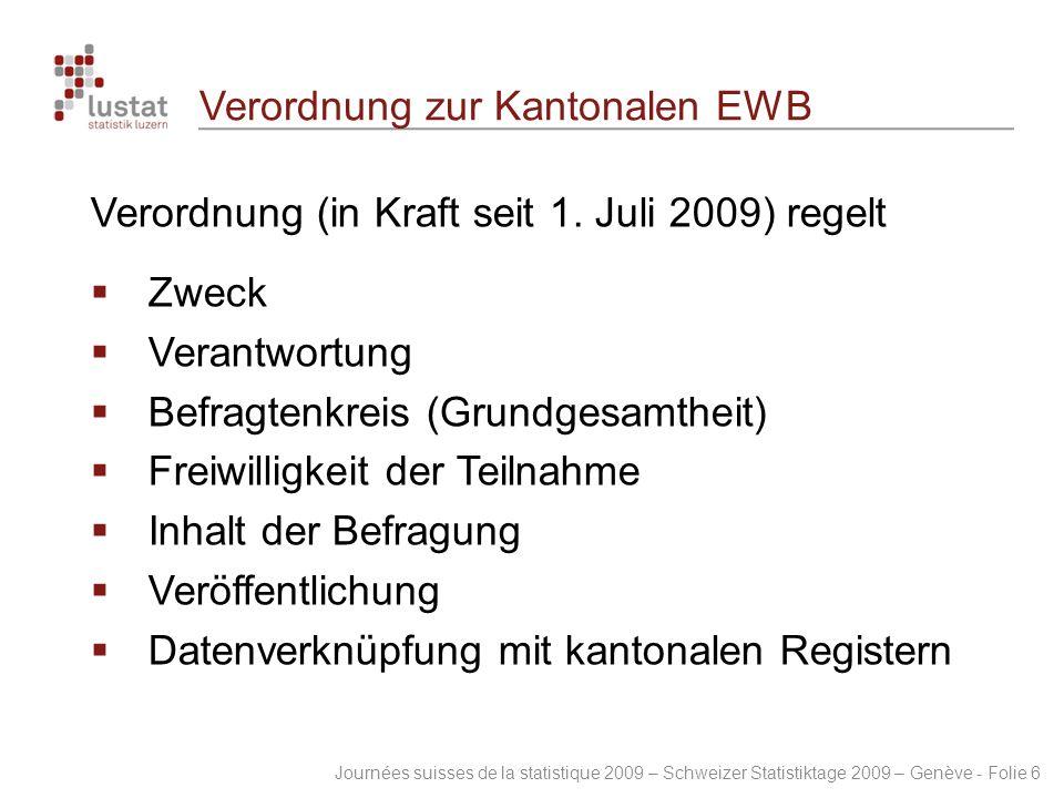 Verordnung zur Kantonalen EWB