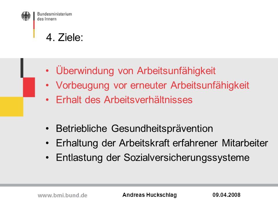 4. Ziele: Überwindung von Arbeitsunfähigkeit