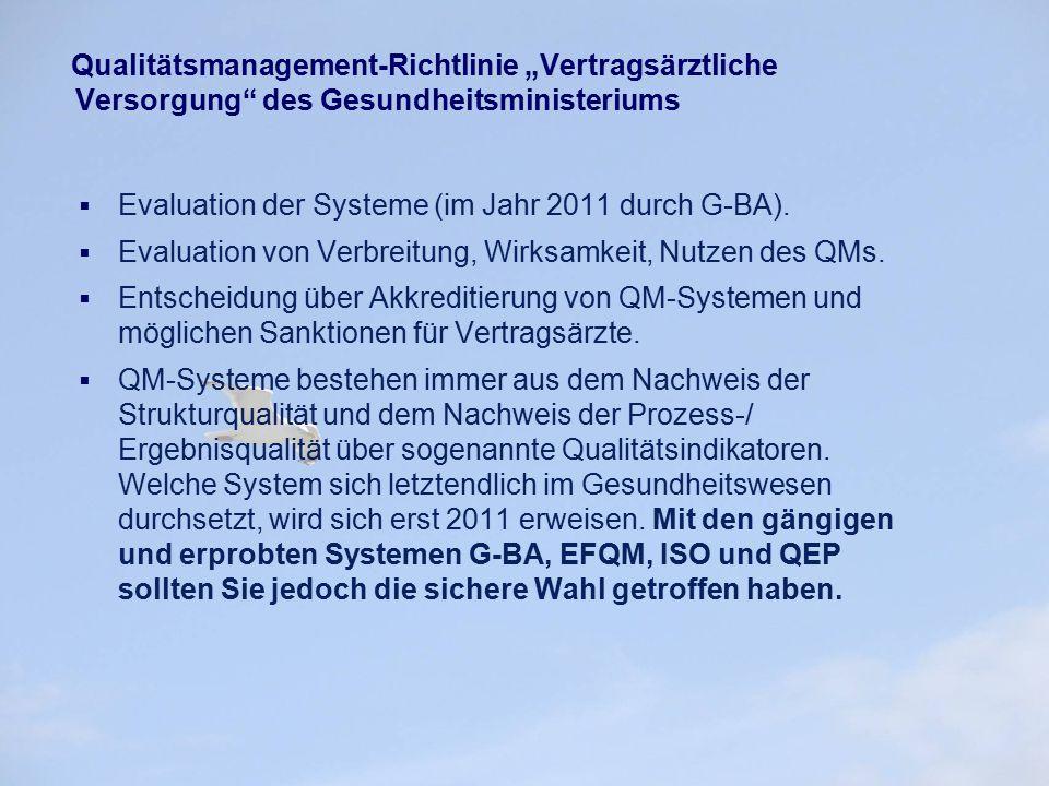 """Qualitätsmanagement-Richtlinie """"Vertragsärztliche Versorgung des Gesundheitsministeriums"""