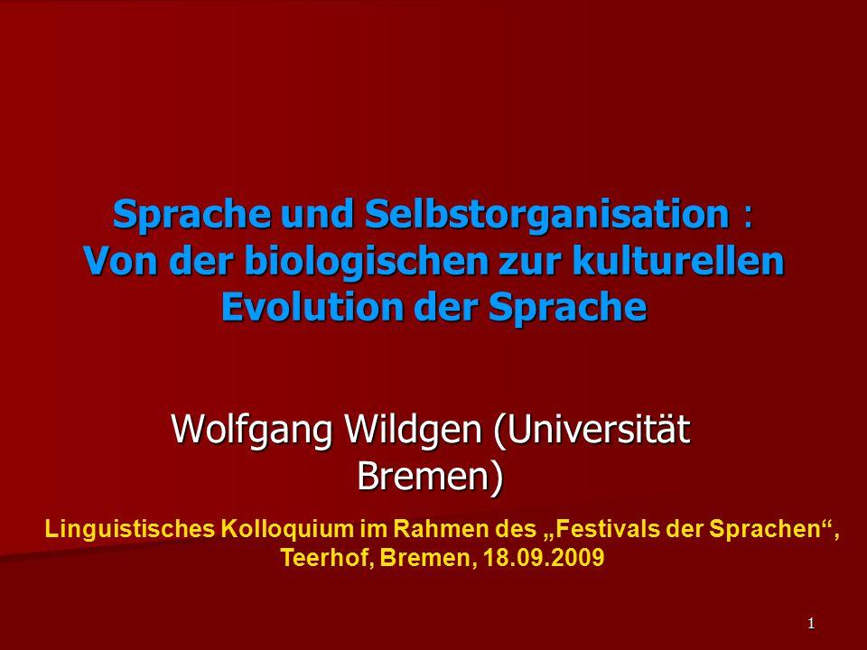 Wolfgang Wildgen (Universität Bremen)