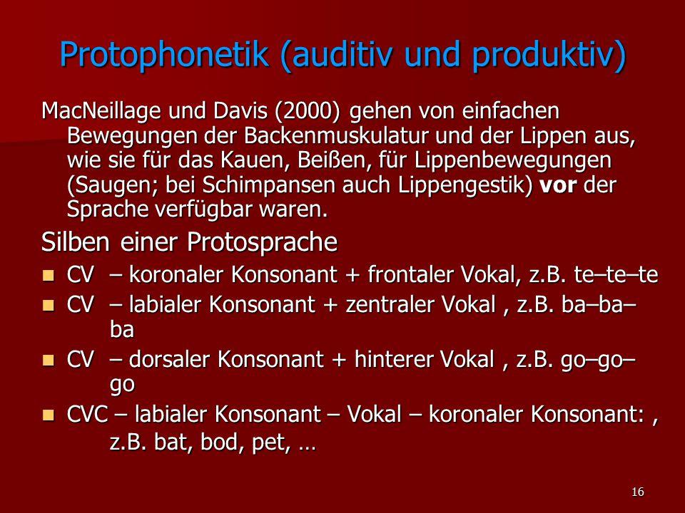 Protophonetik (auditiv und produktiv)