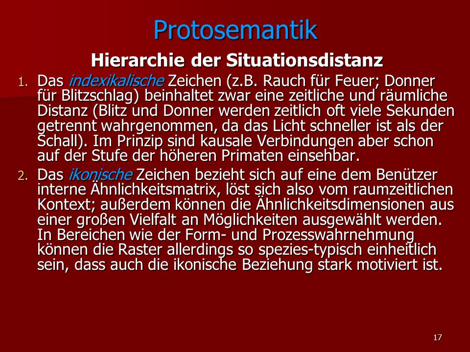 Hierarchie der Situationsdistanz