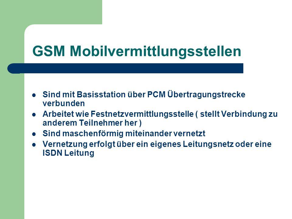 GSM Mobilvermittlungsstellen