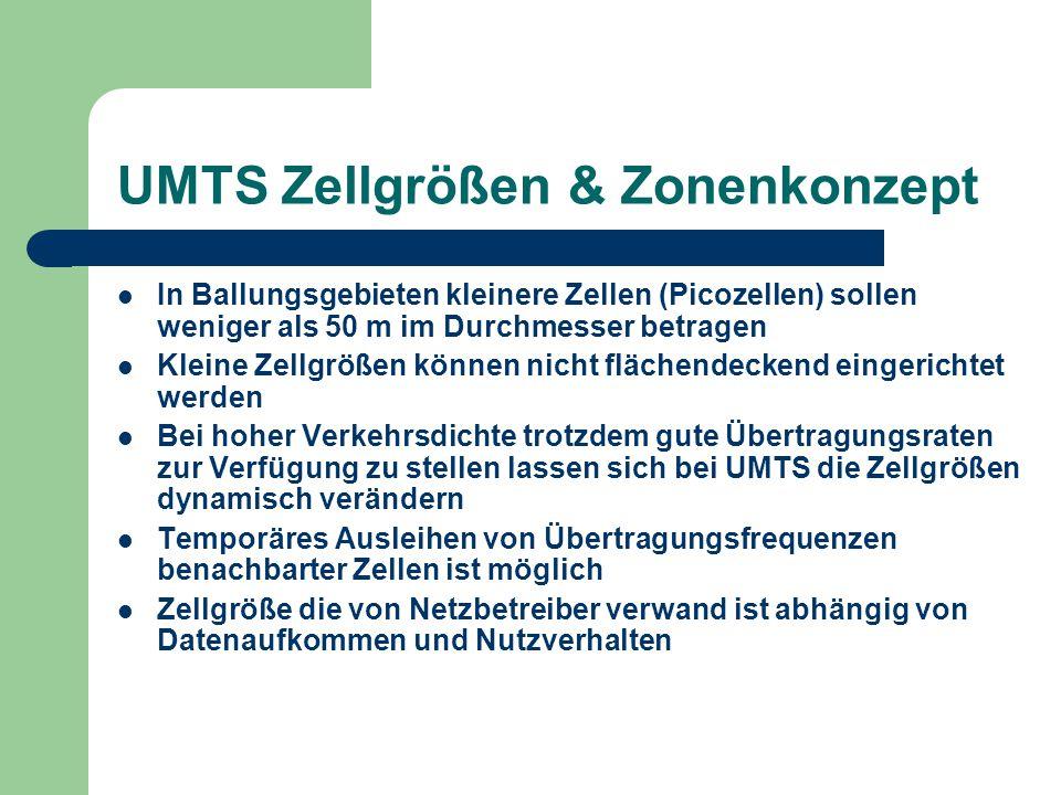 UMTS Zellgrößen & Zonenkonzept
