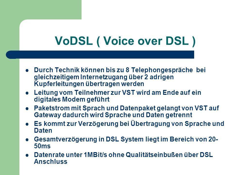 VoDSL ( Voice over DSL )