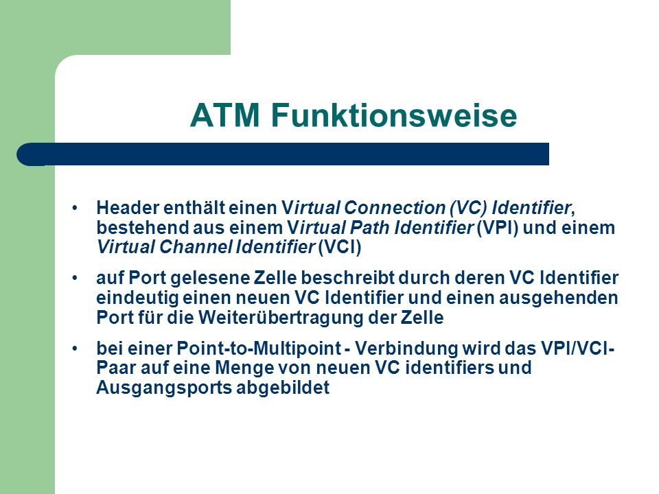 ATM Funktionsweise