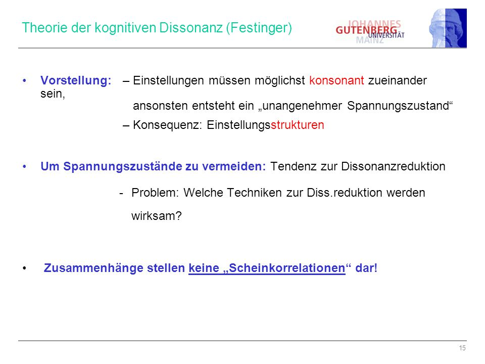 Theorie der kognitiven Dissonanz (Festinger)