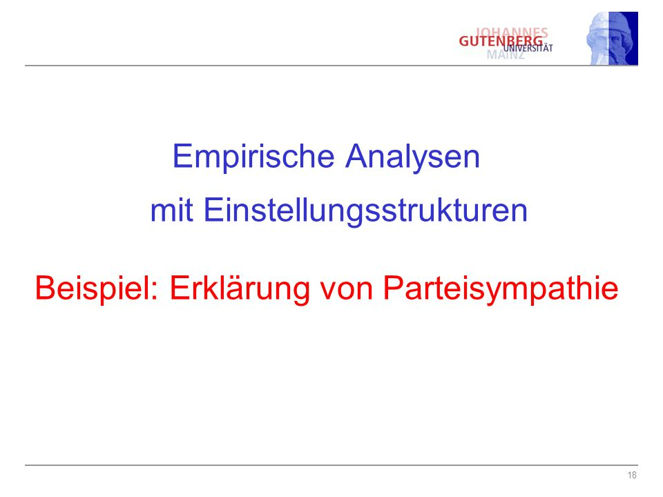 Empirische Analysen mit Einstellungsstrukturen