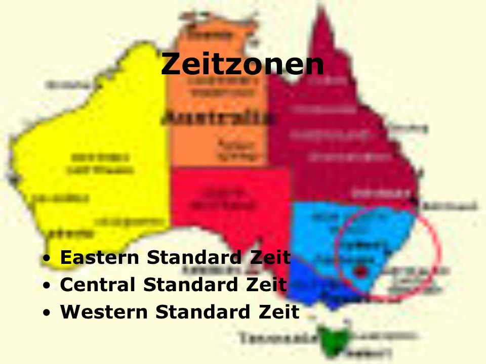 Zeitzonen Eastern Standard Zeit Central Standard Zeit