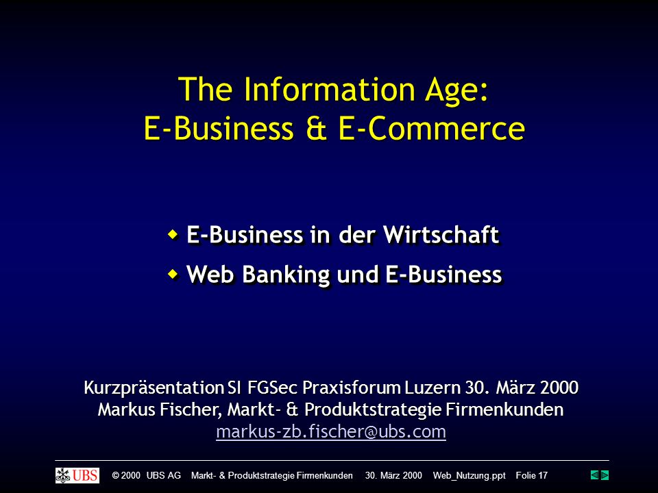 The Information Age: E-Business & E-Commerce