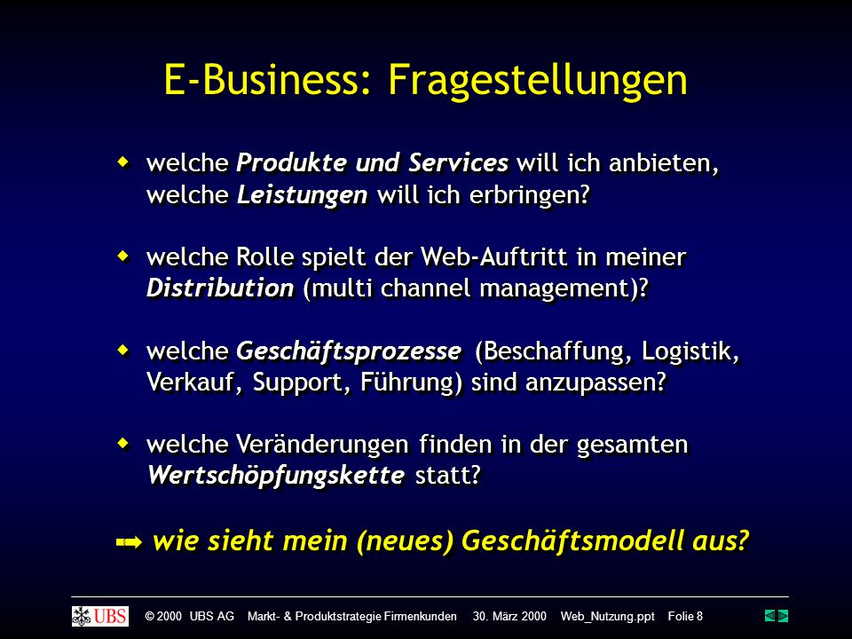 E-Business: Fragestellungen