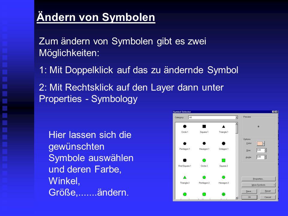 Ändern von Symbolen Zum ändern von Symbolen gibt es zwei Möglichkeiten: 1: Mit Doppelklick auf das zu ändernde Symbol.