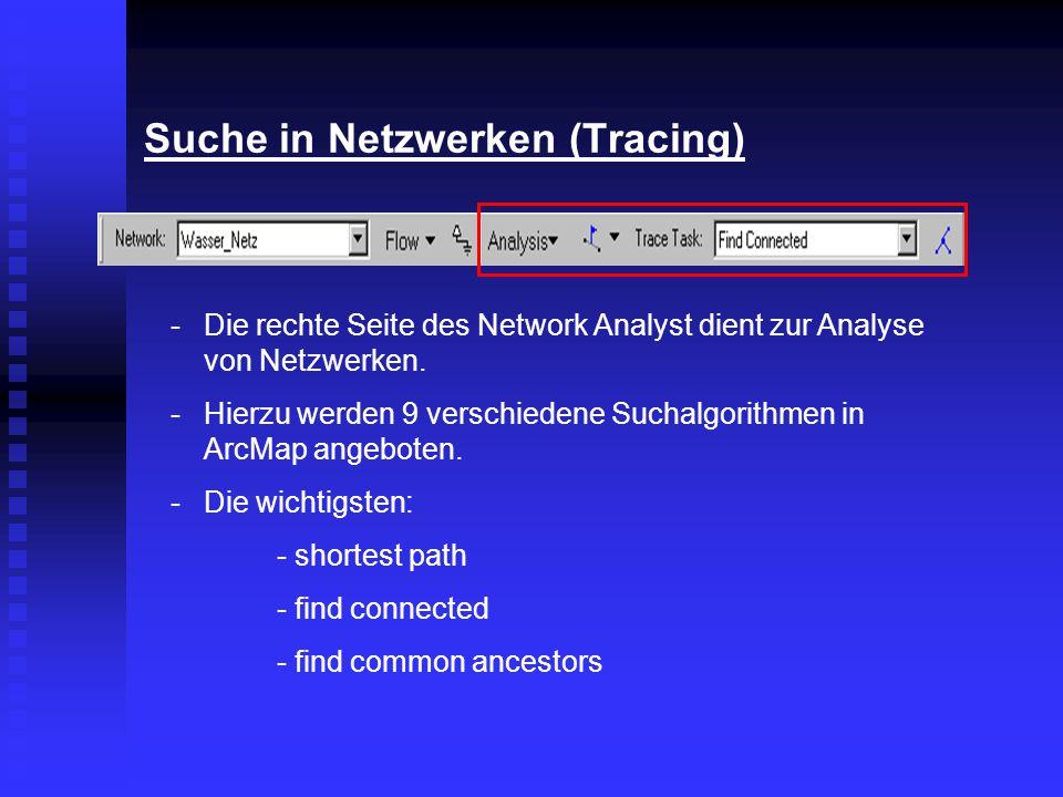 Suche in Netzwerken (Tracing)