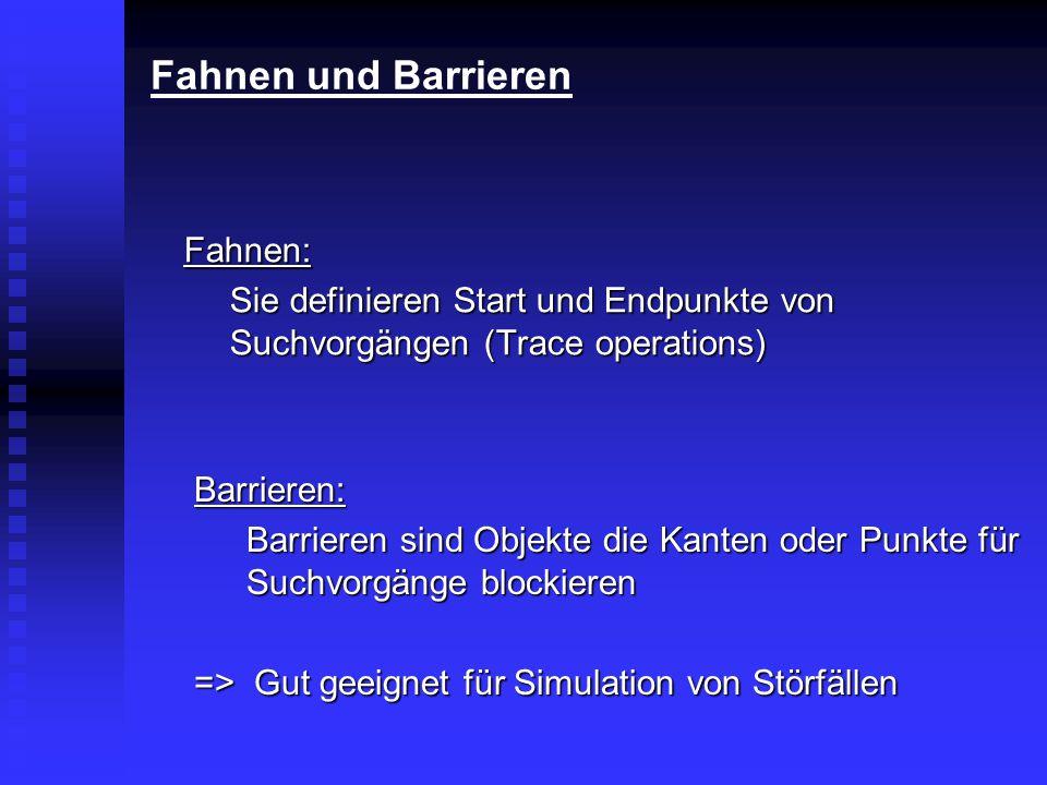 Fahnen und Barrieren Fahnen: