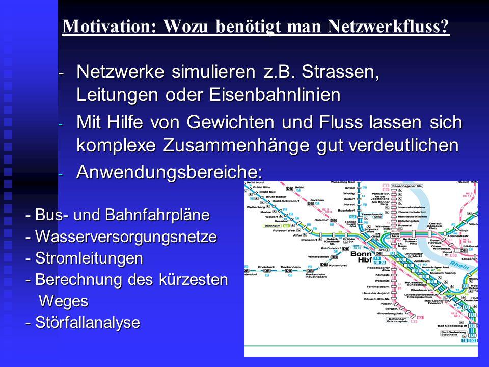 Motivation: Wozu benötigt man Netzwerkfluss