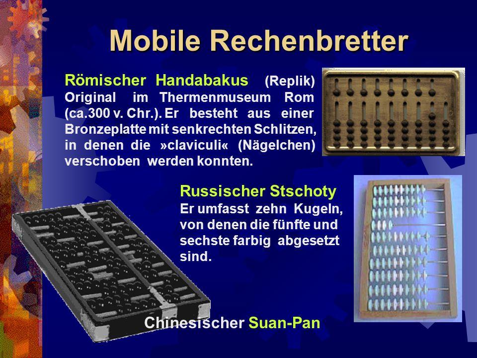 Mobile Rechenbretter Römischer Handabakus (Replik) Russischer Stschoty