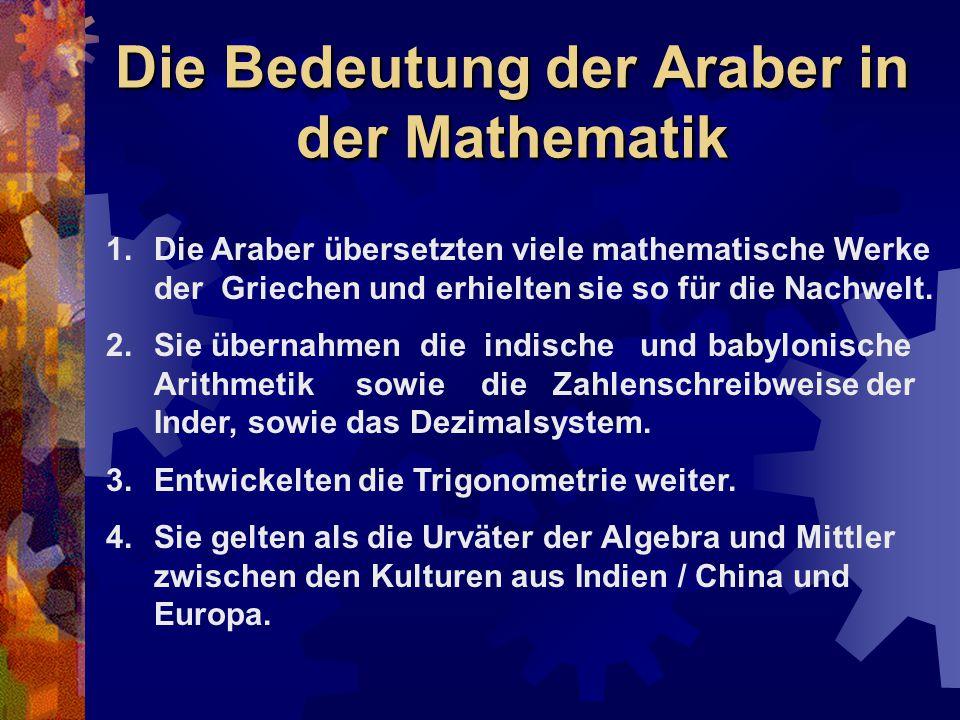 Die Bedeutung der Araber in der Mathematik