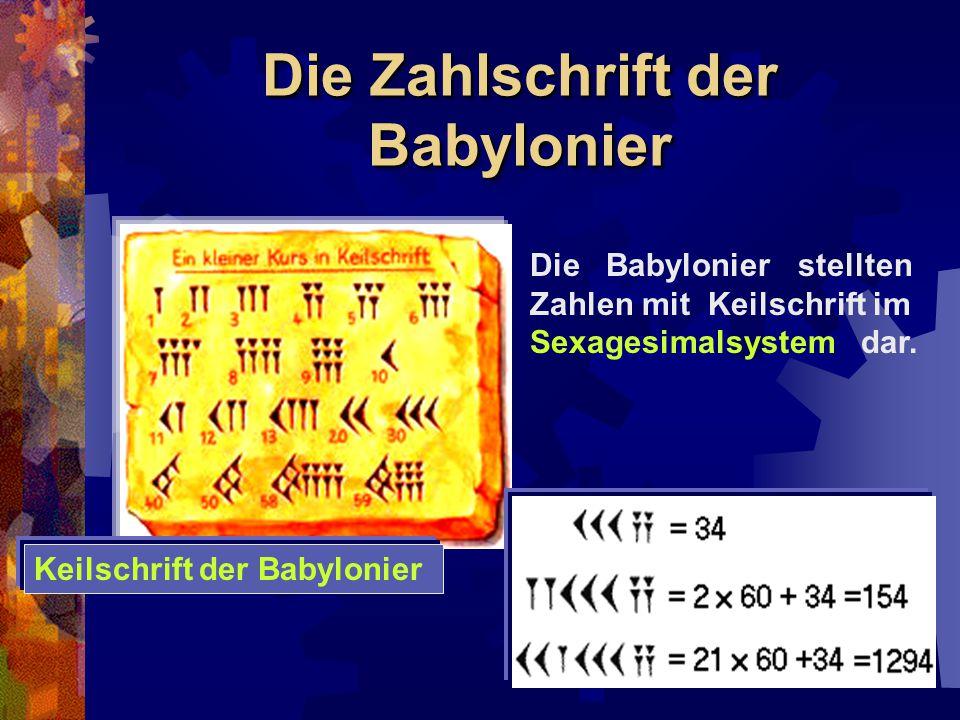 Die Zahlschrift der Babylonier