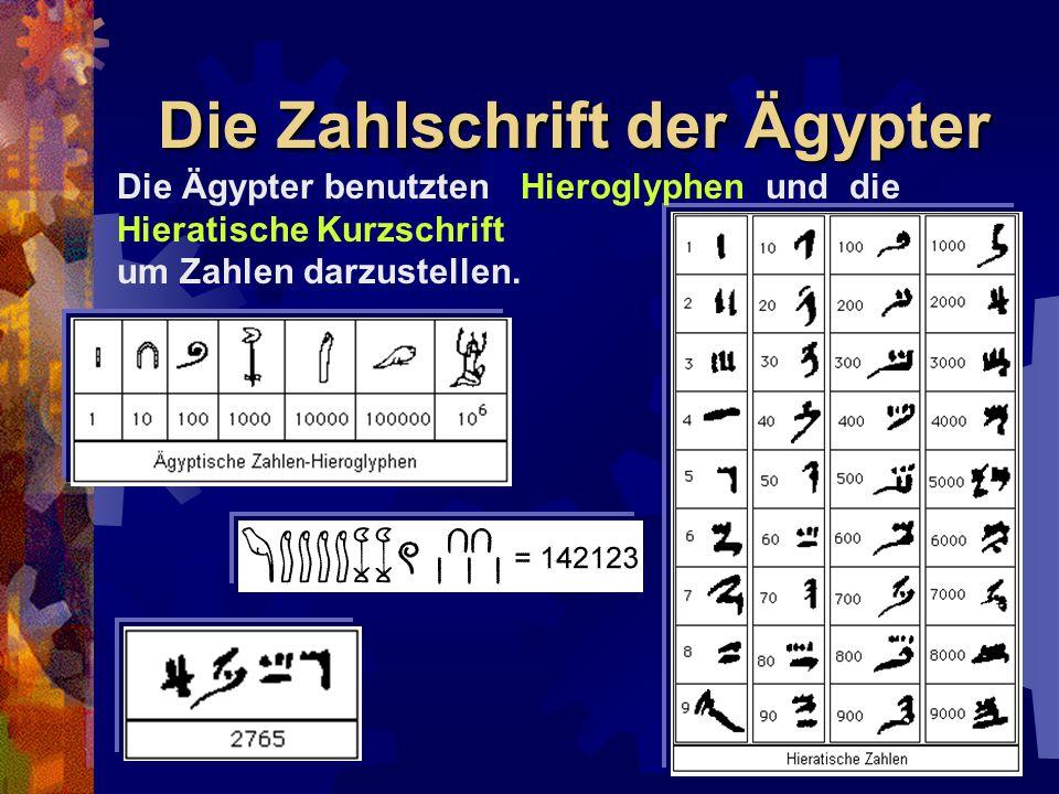 Die Zahlschrift der Ägypter