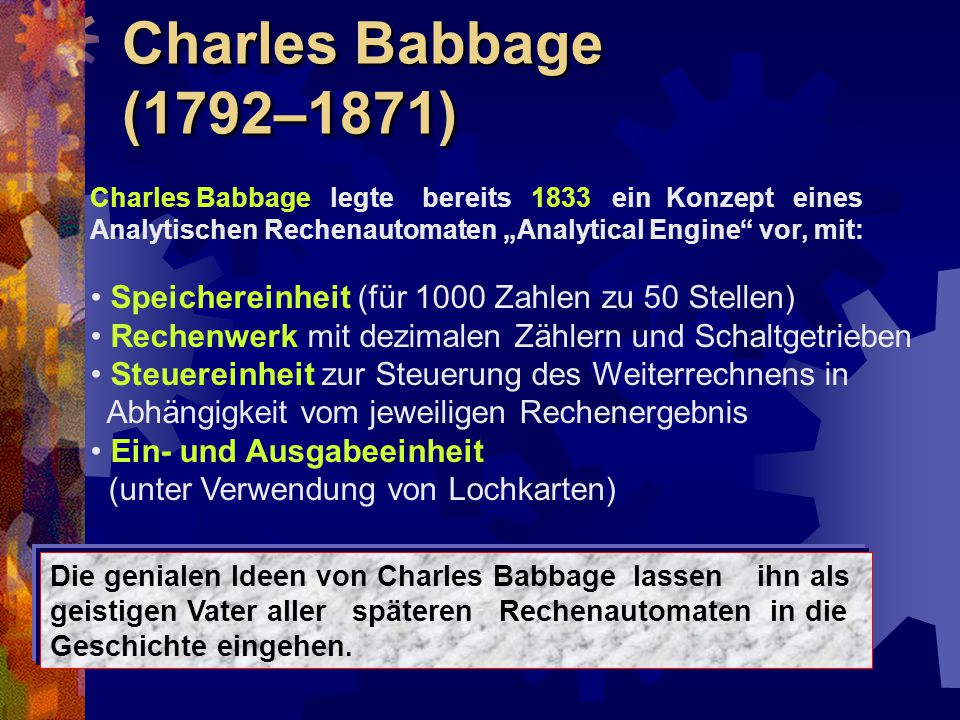Charles Babbage (1792–1871)