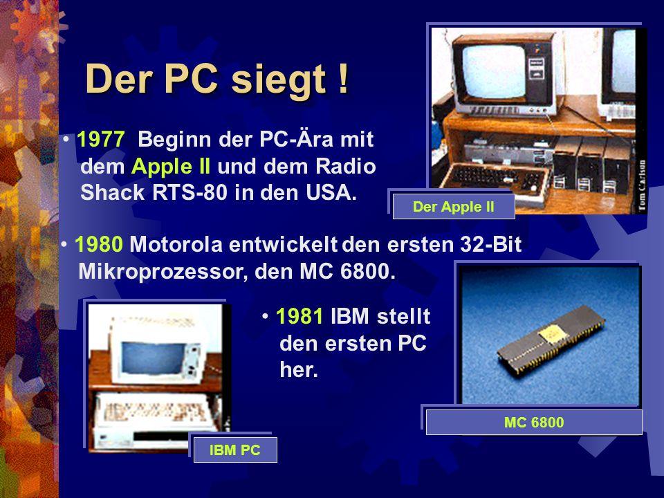 Der PC siegt ! 1977 Beginn der PC-Ära mit dem Apple II und dem Radio