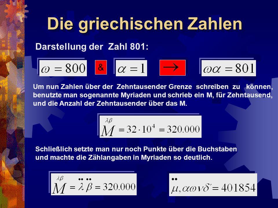 Die griechischen Zahlen