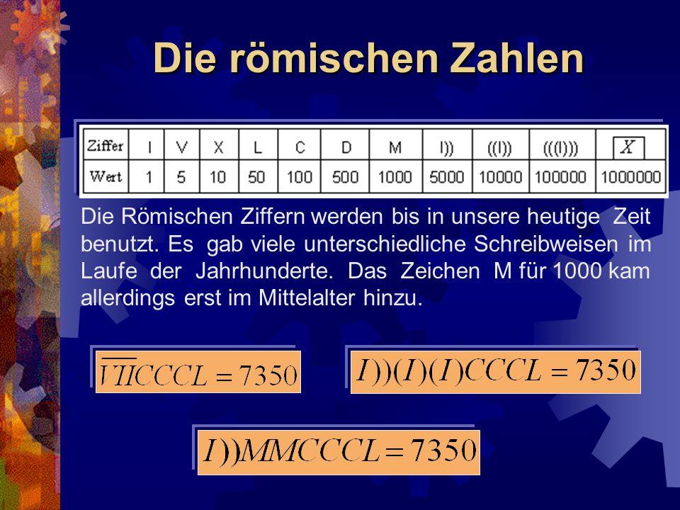 Die römischen Zahlen
