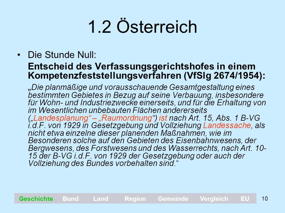 1.2 Österreich Die Stunde Null:
