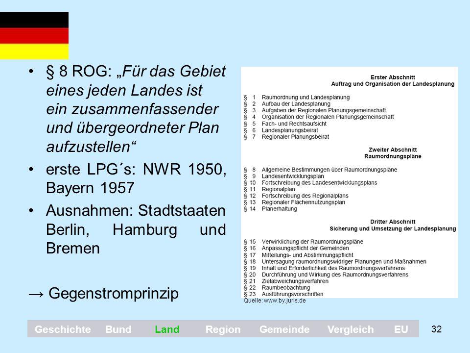 erste LPG´s: NWR 1950, Bayern 1957