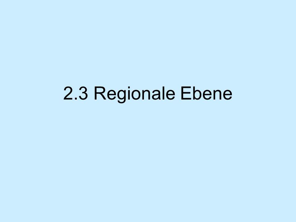 2.3 Regionale Ebene