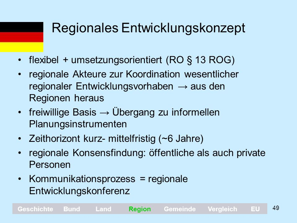 Regionales Entwicklungskonzept